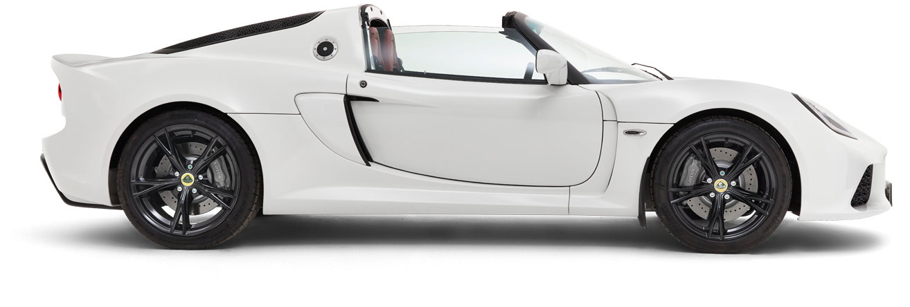 Exige Roadster Side-on Roof-off