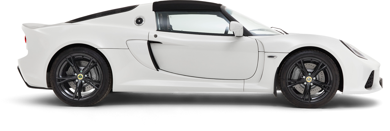 Exige Roadster Side-on Roof-on